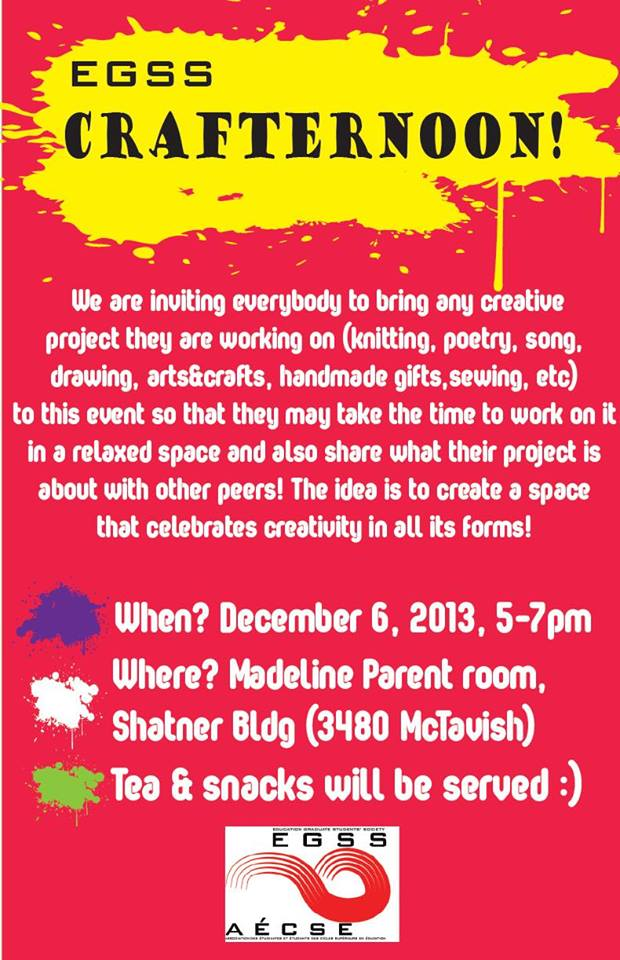 ***EGSS CRAFTERNOON THIS FRIDAY***