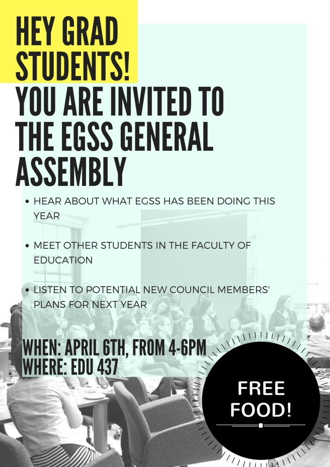 You are invited to the EGSS general assembly!